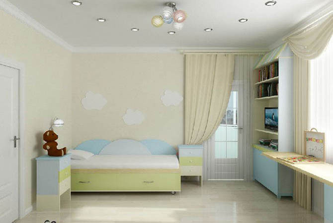 узкая комната интерьер обстановка мебель