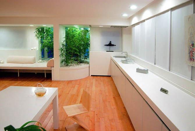 интерьер квартир балка на потолке