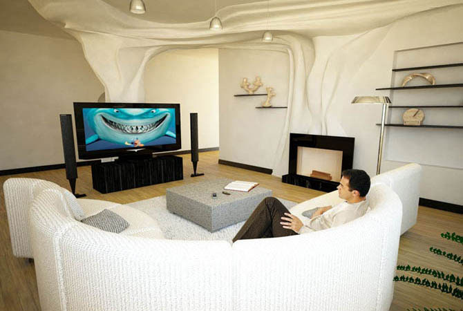 дизайн спальной комнаты арт-деко