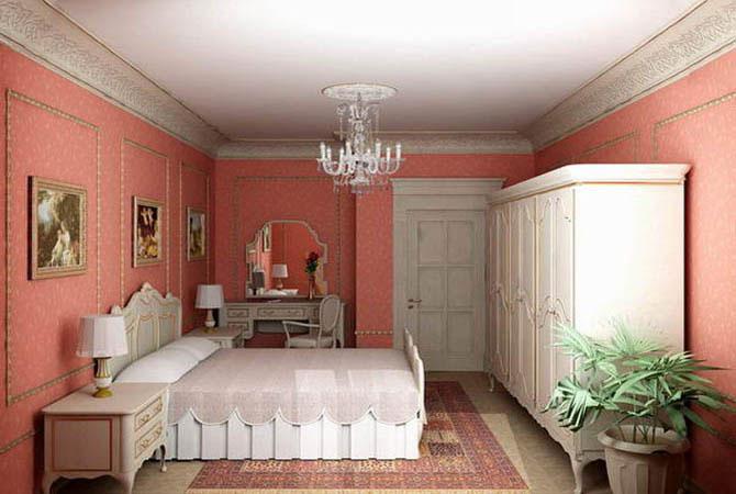интерьер детской комнаты розового цвета