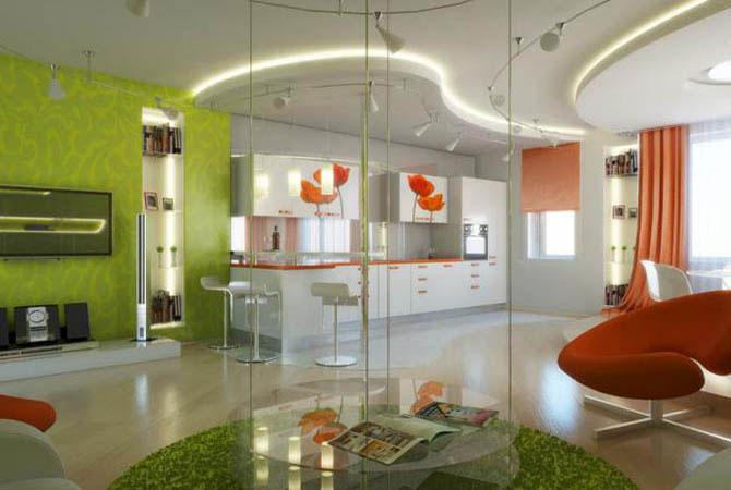 дизайн зала столовая в квартире