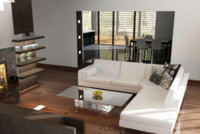 пример интерьера маленькой гостинной комнаты
