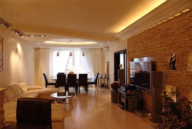 интерьер 3-х комнатной квартиры дома и-155