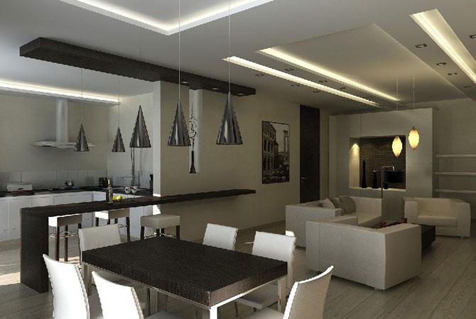 дизайн квартир в стиле ампер
