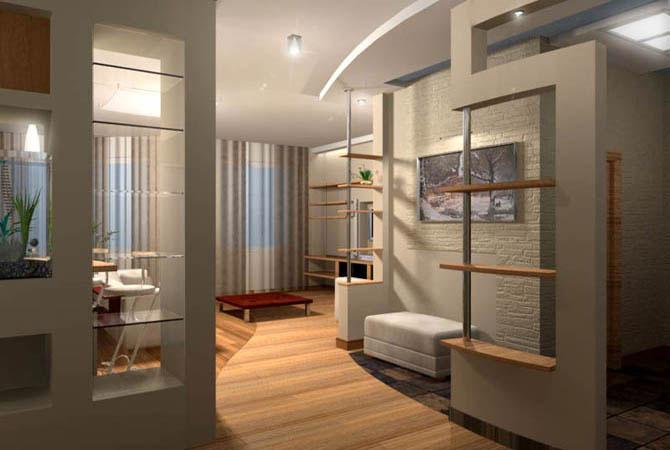 интеръер и дизайн трех комнатной квартиры