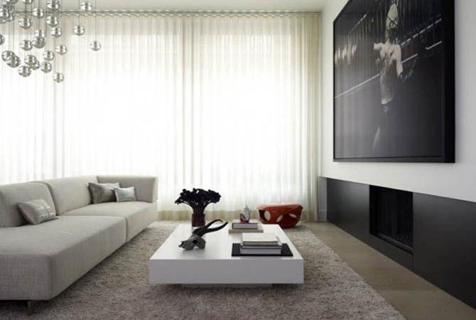 интерьер квартиры с высокими потолками
