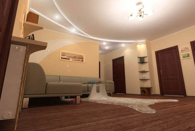 дизайн 3-х комнатной квартиры 121 серии