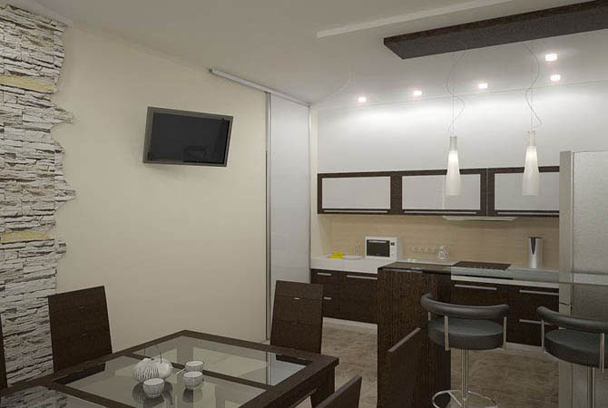 дизайн двух комнатных квартир73 м2