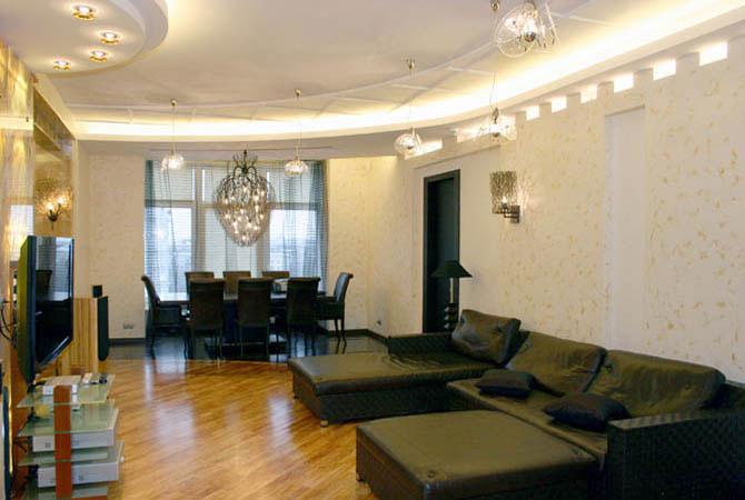 интерьер квартир с лепным декором