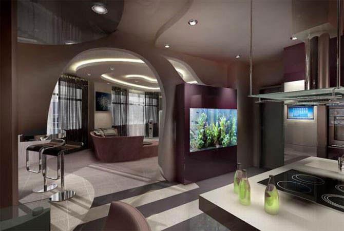 яркий дизайн комнаты фото