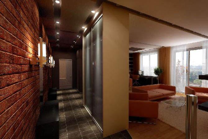 интерьер малогабаритных квартир в черно белых тонах