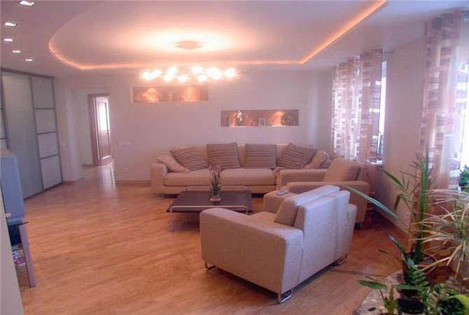 дизайн квартиры кухня зал