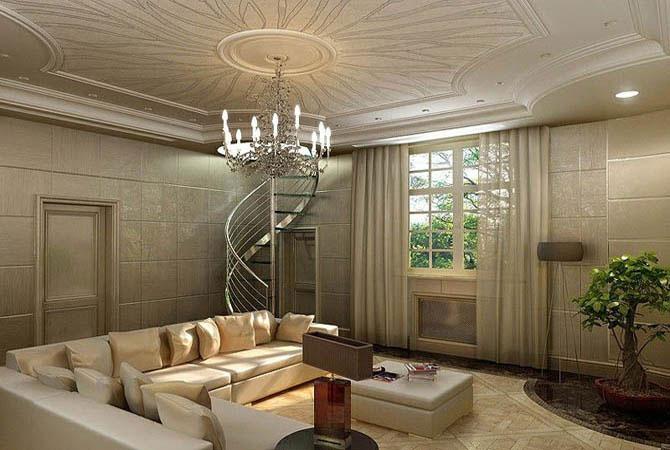 интерьер дома и лестниц