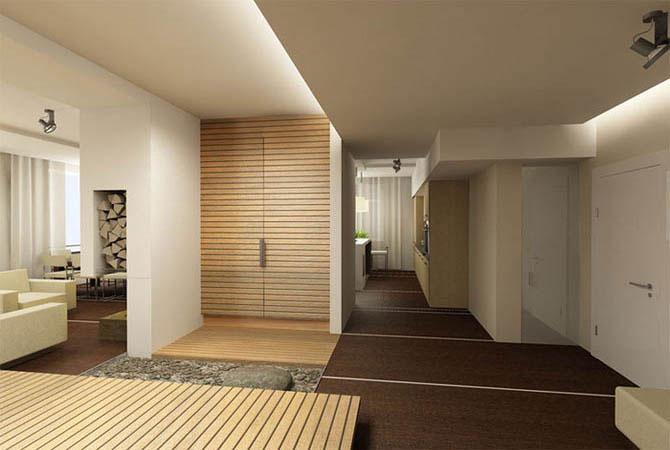 пробка и экзотические материалы в интерьере квартир