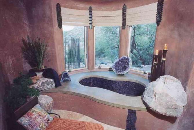 интерьер ванной комнаты кафель