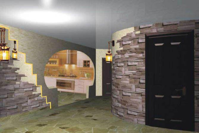 интерьер жилого дома кухня комната