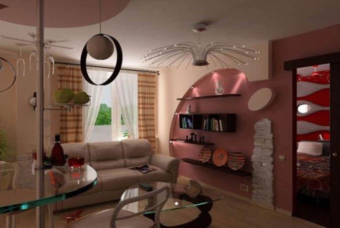 интерьеры стандартной 2-х комнатной планировки