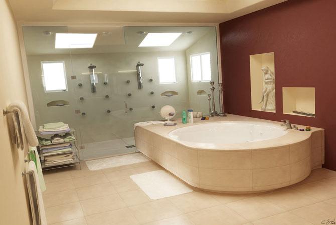 дизайн интерьера ванной комнаты в разных стилях